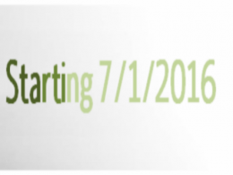 Starting 7/1/2016